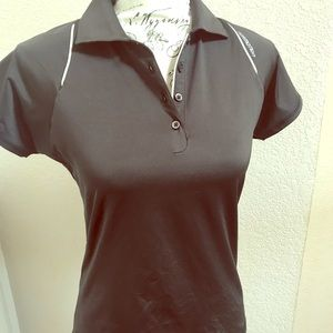 Adidas women's golf shirt graphite black small